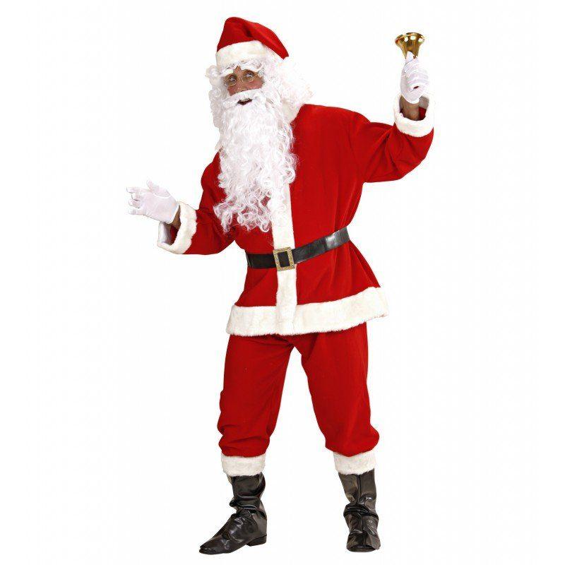 Unisex Klassisches Weihnachtsmann Set 8-teilig – M/L rot | 08003558154609