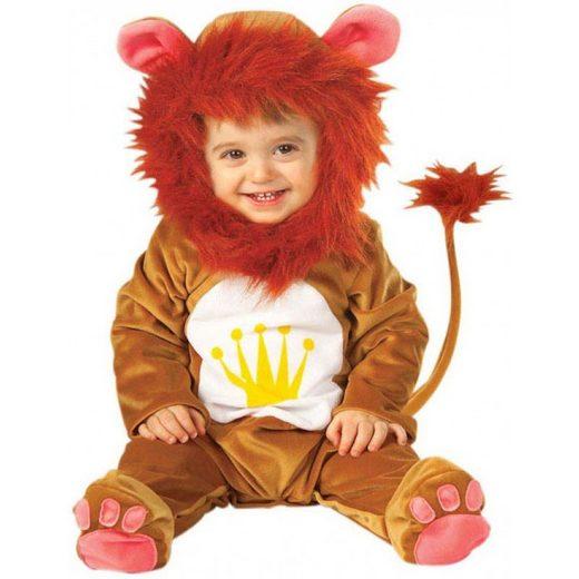 Niedliches Löwen Kostüm für Kleinkinder - 90