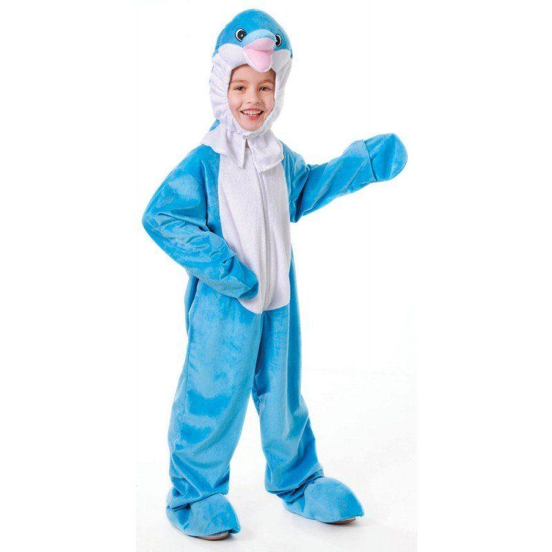 Delfin Flopper Kinderkostüm - 128