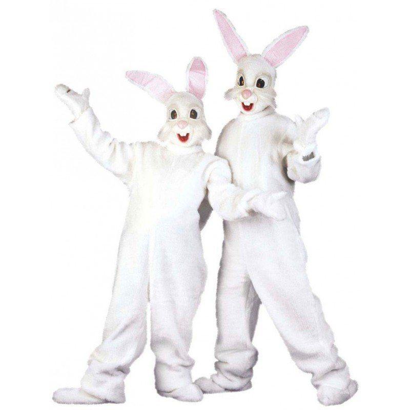 Weiß Bunny Hasenkostüm Deluxe - Einheitsgröße