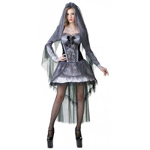 Sexy Dark Bride Horrorbraut Kostüm - S/M