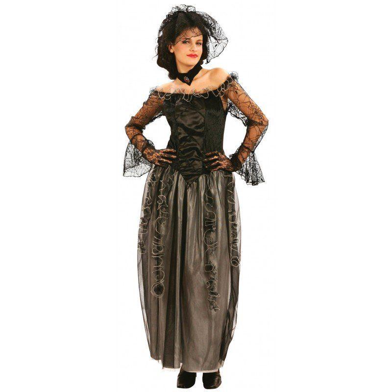 Schwarze Witwe Horror Kostüm - S/M