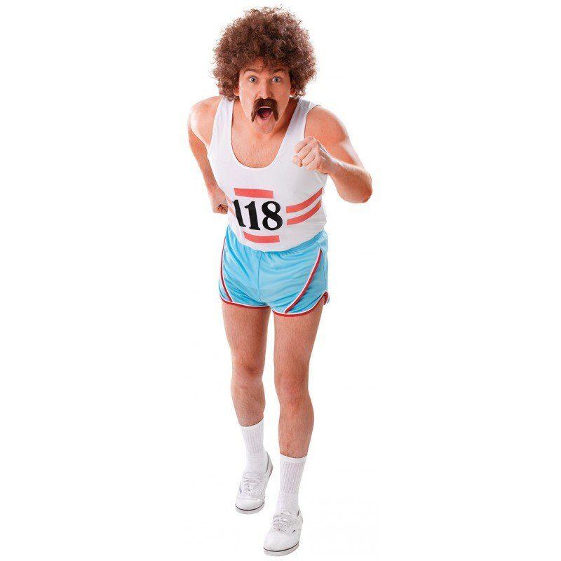 Retro Läufer Sportler Kostüm - M/L