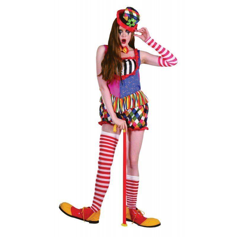 Lustige Clownin Clownskostüm für Damen - S/M