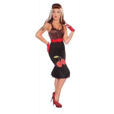 50er Jahre Cherry Retro Damenkostüm - S/M