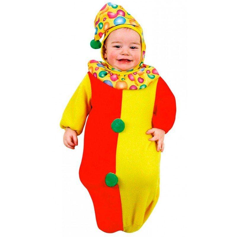 Clown Strampelanzug Baby Kostüm - Baby 0-6 Monate