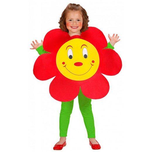 Rotes Blumen Kostüm für Kinder - Einheitsgröße