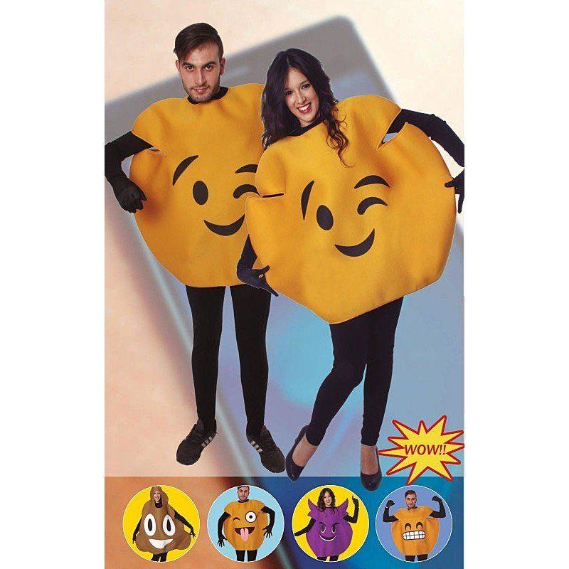 Emoji Augenzwinkern Kostüm - Einheitsgröße (S-L)