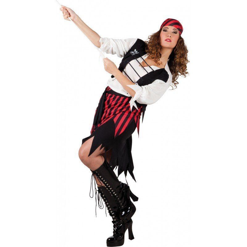 Antigua Piratin Kostüm - M