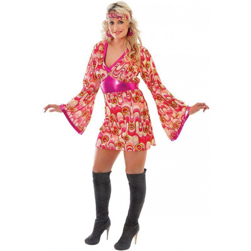 70's Sunflower Hippie Chick Kostüm - S/M