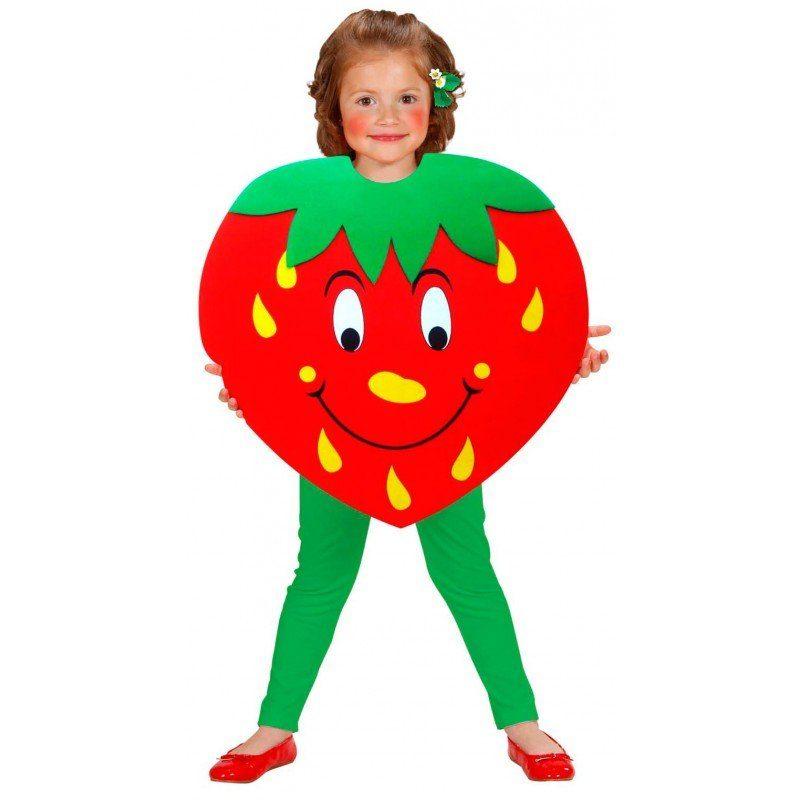 Erdbeere Kinderkostüm - Einheitsgröße