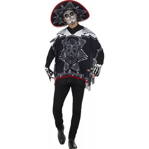 Dia de los Muertos Banditen Kostüm für Erwac - M/L