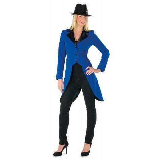 Luxus Showgirl Frack blau für Damen