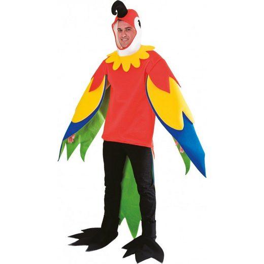 Ara Papagei Kostüm - Einheitsgröße