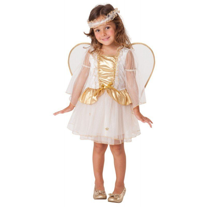 Goldener Mini Engel Kinderkostüm - 92-104