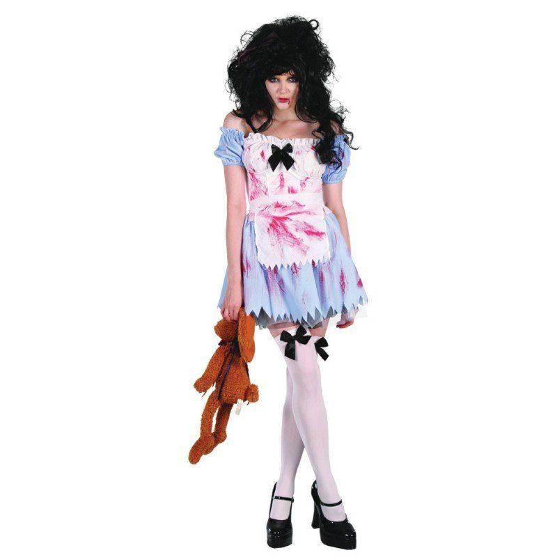 Zombie Girl Halloween Damenkostüm - S/M