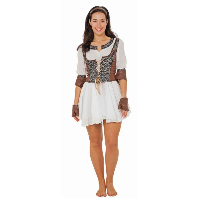Mittelalterliche Kriegerin Damenkostüm - S/M