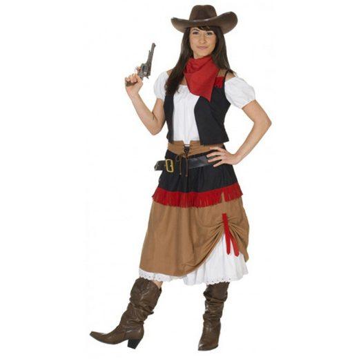Cowgirl Kostüm für Damen 3-teilig