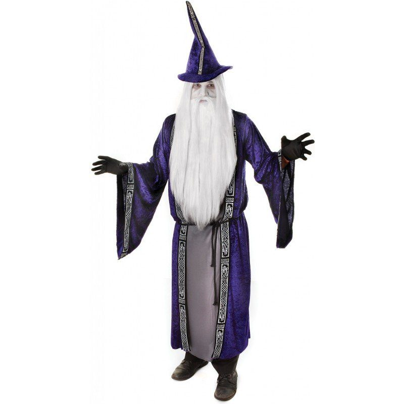 Purple Wizard Zauberer Kostüm - M/L