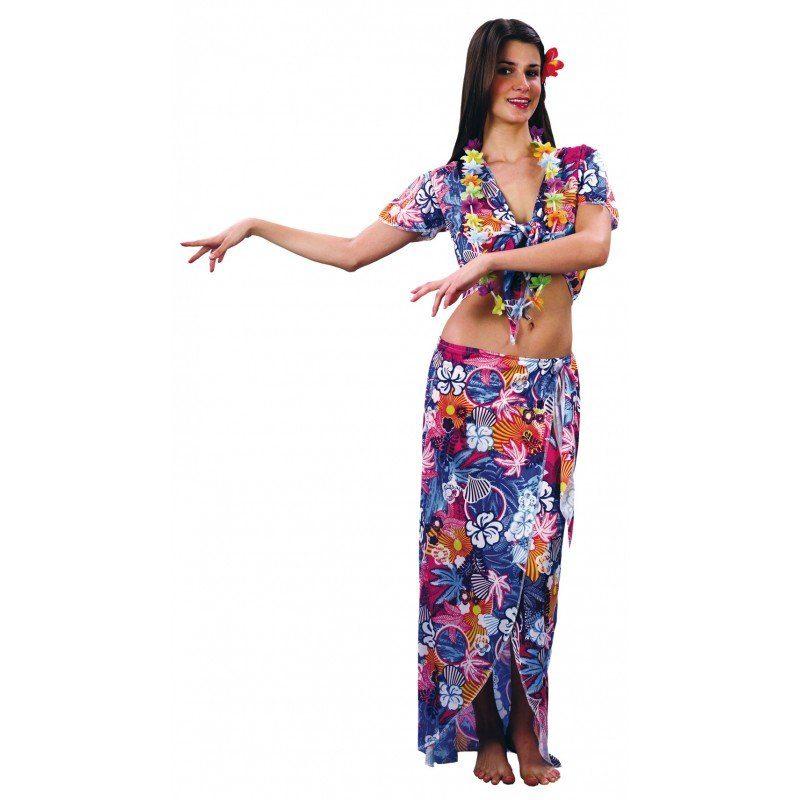 Hawaii Aloha Girl Kostüm bunt - M