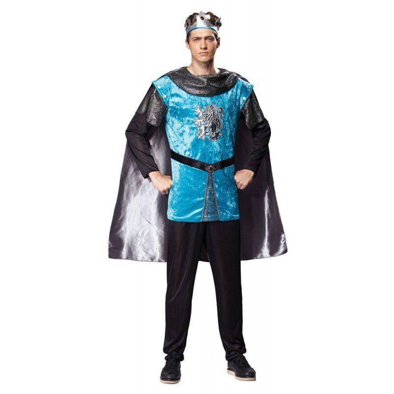 Königlicher Ritter Herrenkostüm blau - M/L