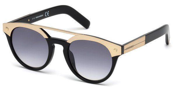 Dsquared2 Damen Sonnenbrille » DQ0200«, schwarz, 01B - schwarz/grau