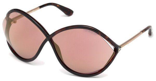 Tom Ford Damen Sonnenbrille »Liora FT0528«, braun, 52Z - braun/lila