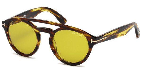 Tom Ford Herren Sonnenbrille »Clint FT0537«, gelb, 41E - gelb/braun