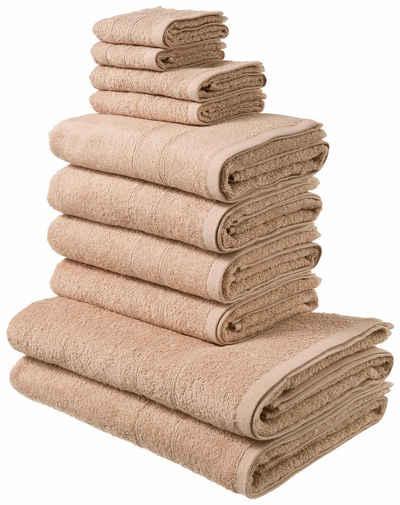 My Home Handtuch Set Inga Mit Feiner Bordüre 10 Tlg