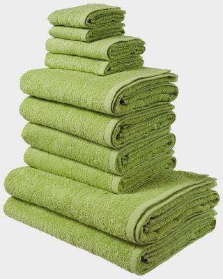 Handtuch Set »Inga« (Set, 10-tlg), mit feiner Bordüre