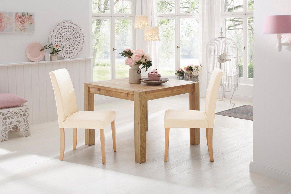 home affaire esstisch model 3 aus massiver eiche in 5 breiten online kaufen otto. Black Bedroom Furniture Sets. Home Design Ideas