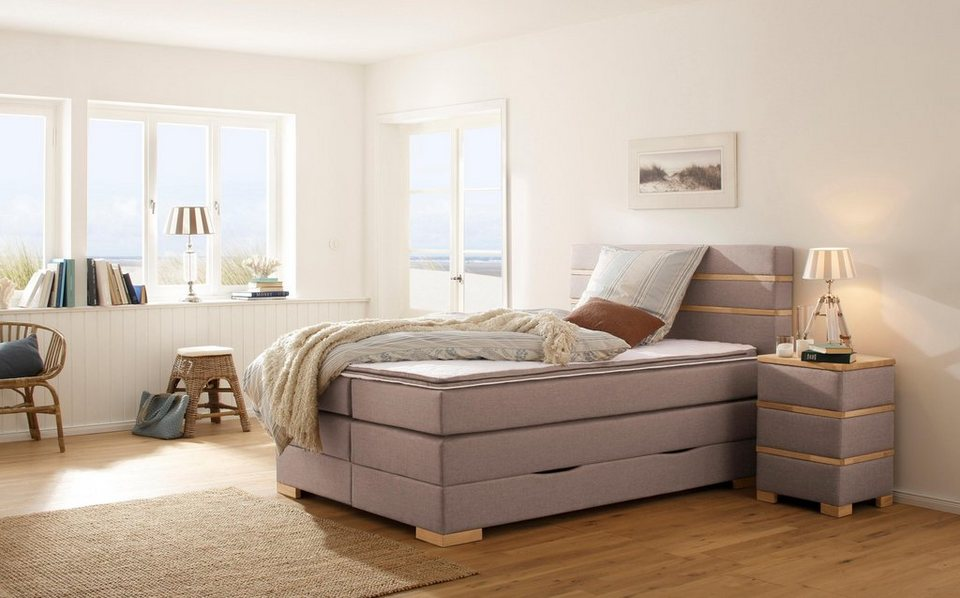 home affaire boxspringbett carlton incl topper. Black Bedroom Furniture Sets. Home Design Ideas