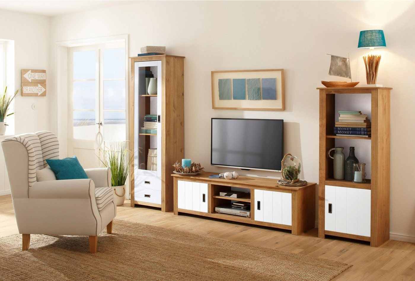 TV Möbel - Home affaire TV Lowboard »Kampen«, Breite 158 cm  - Onlineshop OTTO