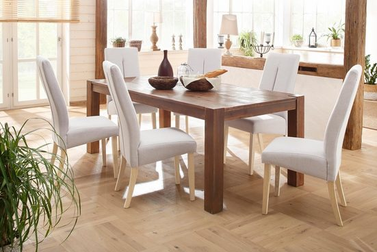 Home affaire Esstisch »Mack«, aus massivem Akazienholz, Breite 160 cm