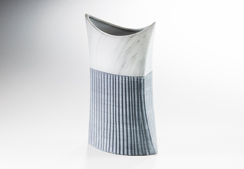 Home affaire Deko-Vase »Rillen« aus Keramik