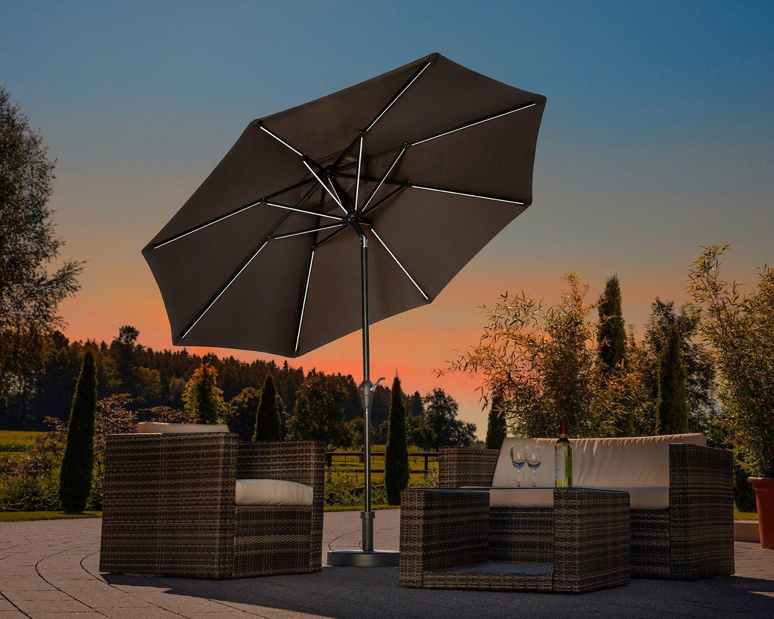 SCHNEIDER SCHIRME Sonnenschirm »Blacklight it«, Ø 270 cm, ohne Schirmständer
