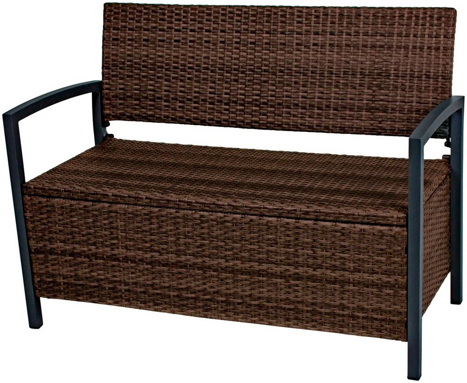 gartenbank rattan top gartenbank rattan mit stauraum eine with gartenbank rattan free. Black Bedroom Furniture Sets. Home Design Ideas