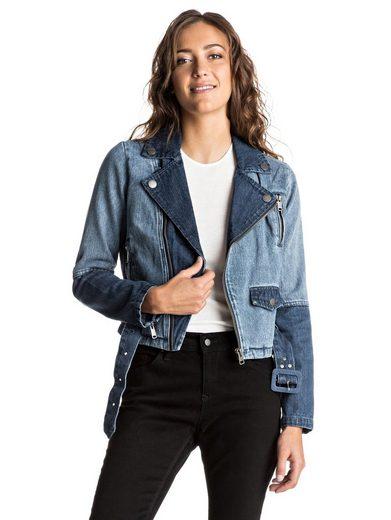 Roxy Zweifarbige Jeansjacke Ogeia - Zweifarbige Jeansjacke