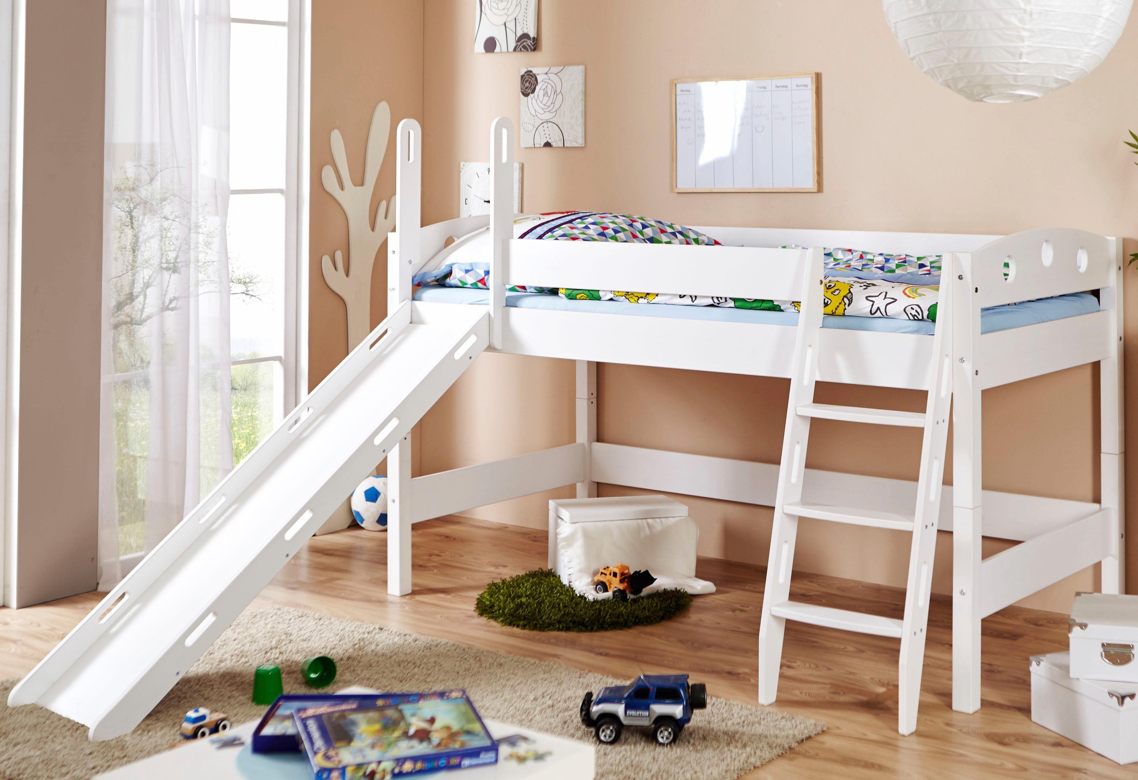 Etagenbett Weiß Mit Rutsche : Paidi spielbett mit rutsche weiß sophia