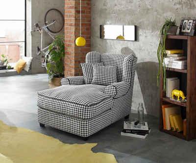 Attractive Home Affaire Mega Sessel »Ango« XXL Mit Kedernaht Und 2 Zierkissen, Webstoff