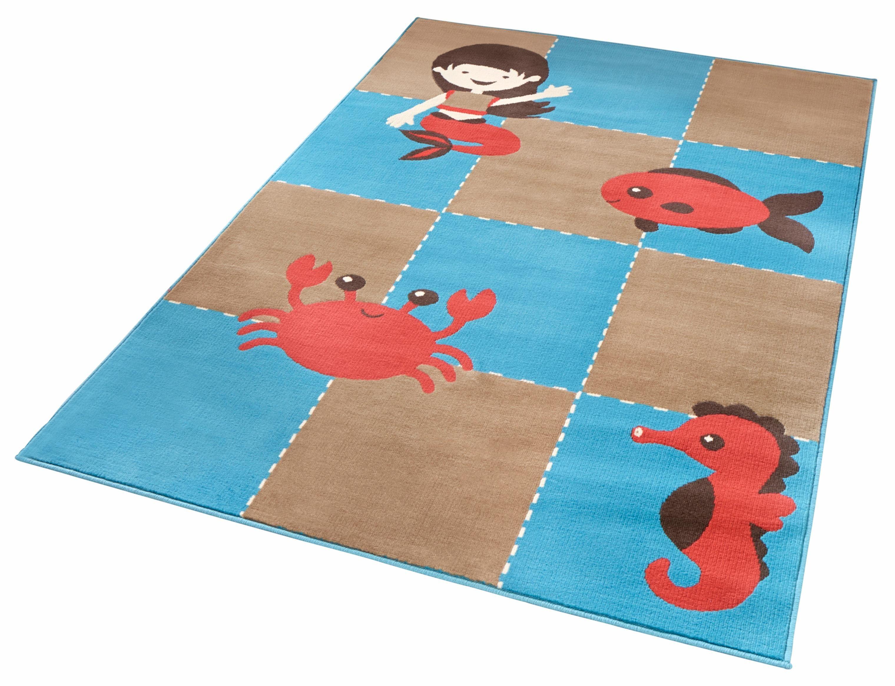 Kinderteppich »Meeresbewohner«, Zala Living, rechteckig, Höhe 9 mm