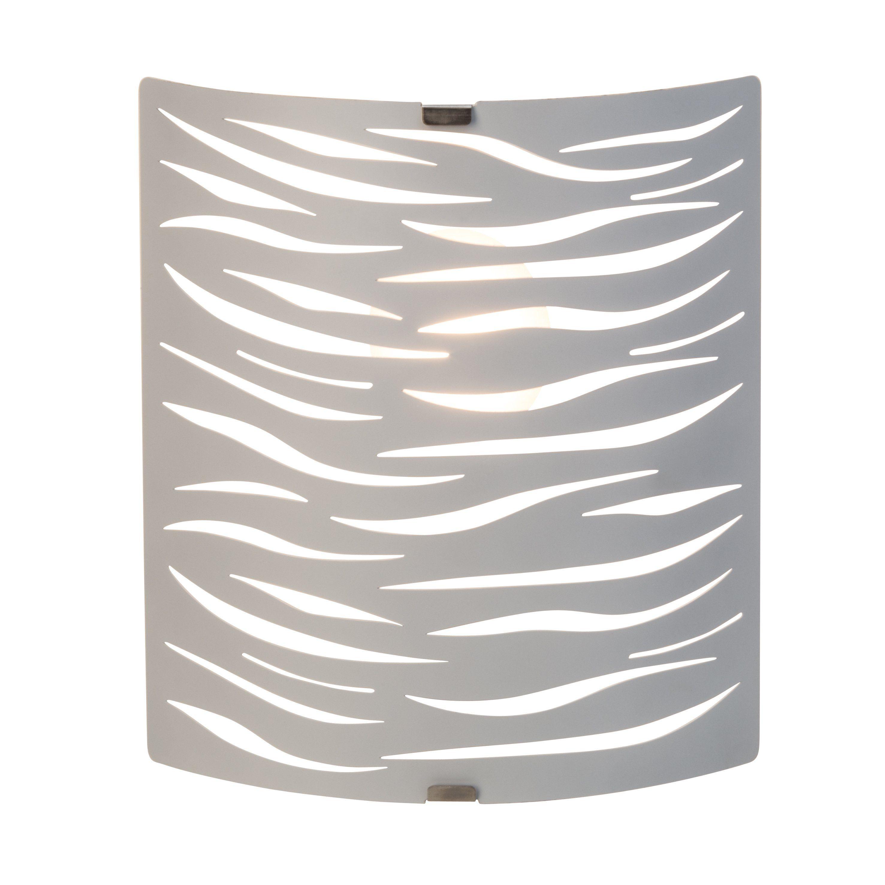 Brilliant Leuchten Zebra Wandleuchte weiß