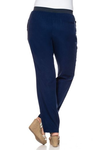 Sheego Style Pull-on Pants, Pleasant Lyocell-quality
