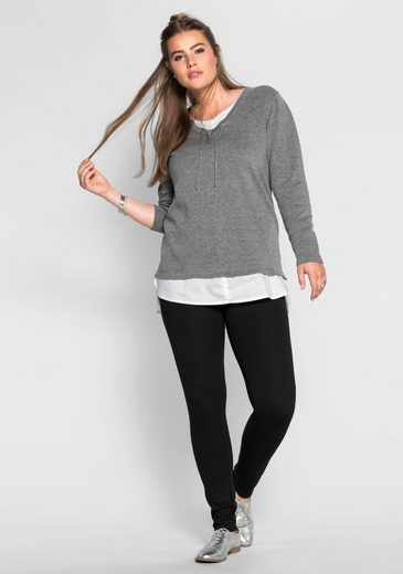 sheeGOTit Longpullover, 2-in-1-Optik