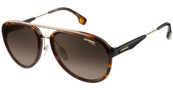 Carrera Eyewear Herren Sonnenbrille » CARRERA 132/S«, schwarz, 2M2/PR - schwarz/ braun