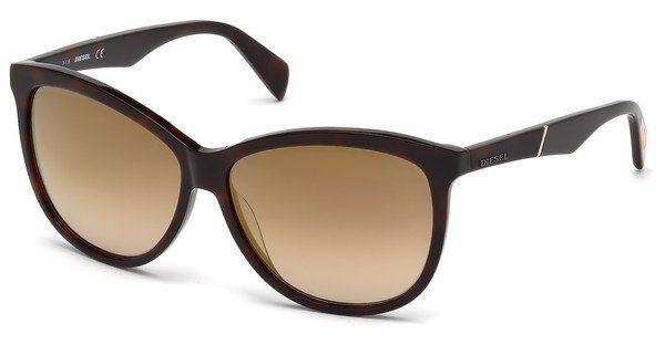 Diesel Damen Sonnenbrille » DL0221«, braun, 52G - braun/braun