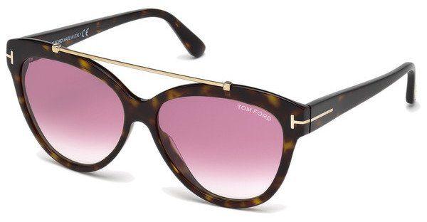Tom Ford Damen Sonnenbrille »Livia FT0518«, braun, 52Z - braun/lila