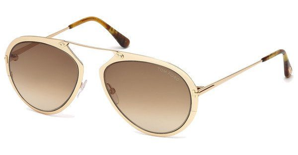 Tom Ford Sonnenbrille »Dashel FT0508«, grau, 08Z - grau/Mirror