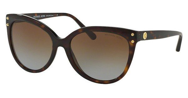 MICHAEL KORS Michael Kors Damen Sonnenbrille »JAN MK2045«, braun, 300613 - braun/braun