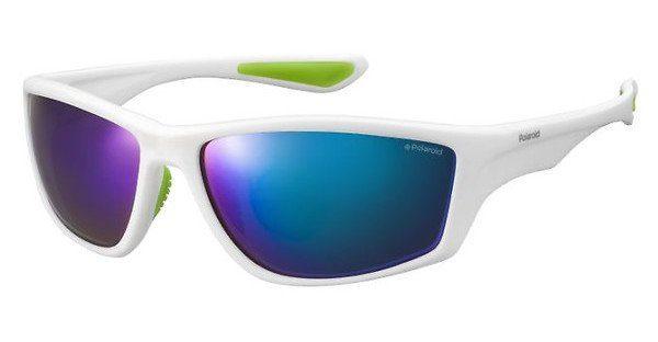Polaroid Herren Sonnenbrille » PLD 7015/S«, weiß, 07R/5Z - weiß/ grün